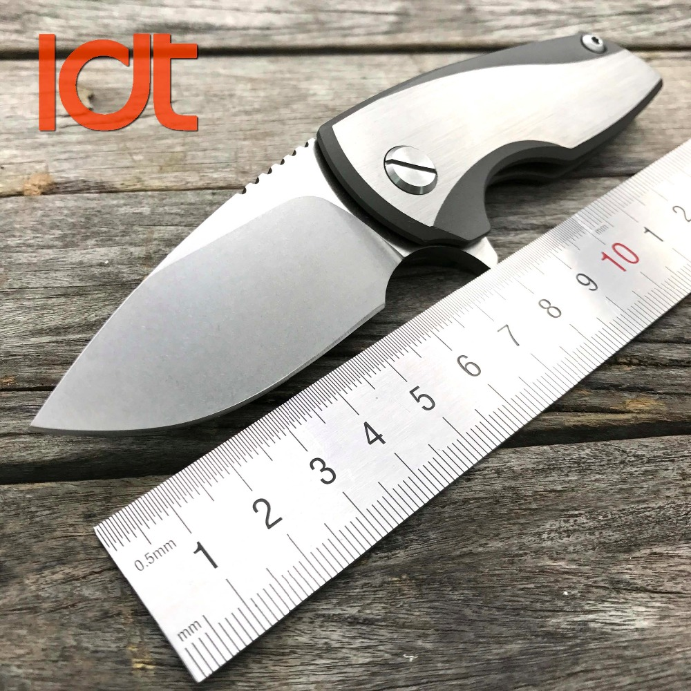 LDT Malyshev Gnome Folding Knife D2 Blade Titanium Handle Camping Outdoor Survival Knives Tactical Knife Mini Pocket EDC Tools bmt mad flow ceramic ball bearing folding knife d2 blade titanium handle tactical knives outdoor survival pocket knife edc tools
