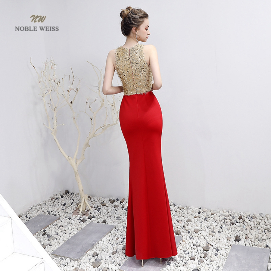 V-Neck Beading Floor-Length Mermaid Prom Dress 1
