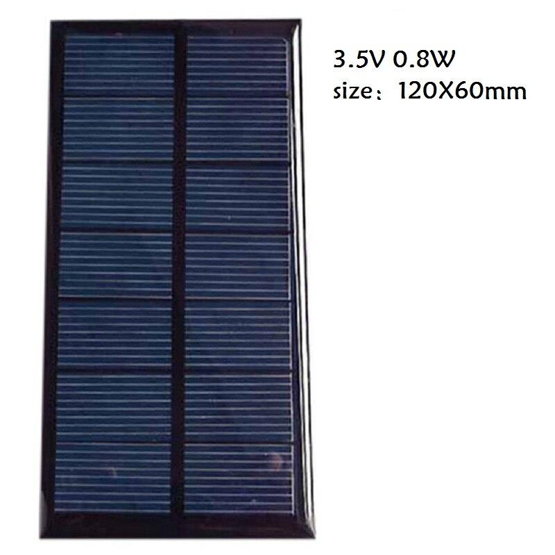 Панели солнечные 0,8 Вт 1,5 Вт модуль Панели солнечные монокристаллического для Батарея сотовый телефон Зарядное устройство DIY модель цвет че...