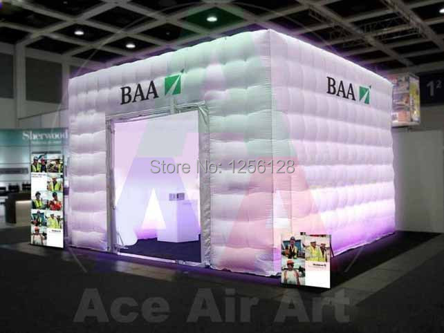 Portable Exhibition Tents : Portable square advertising inflatable booth tent