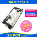 FREE DHL X 20 PCS LOT Chassis New Full Parts for iPhone 4 4G Middle Frame Bezel Midframe Housing Assembly Replacement Parts