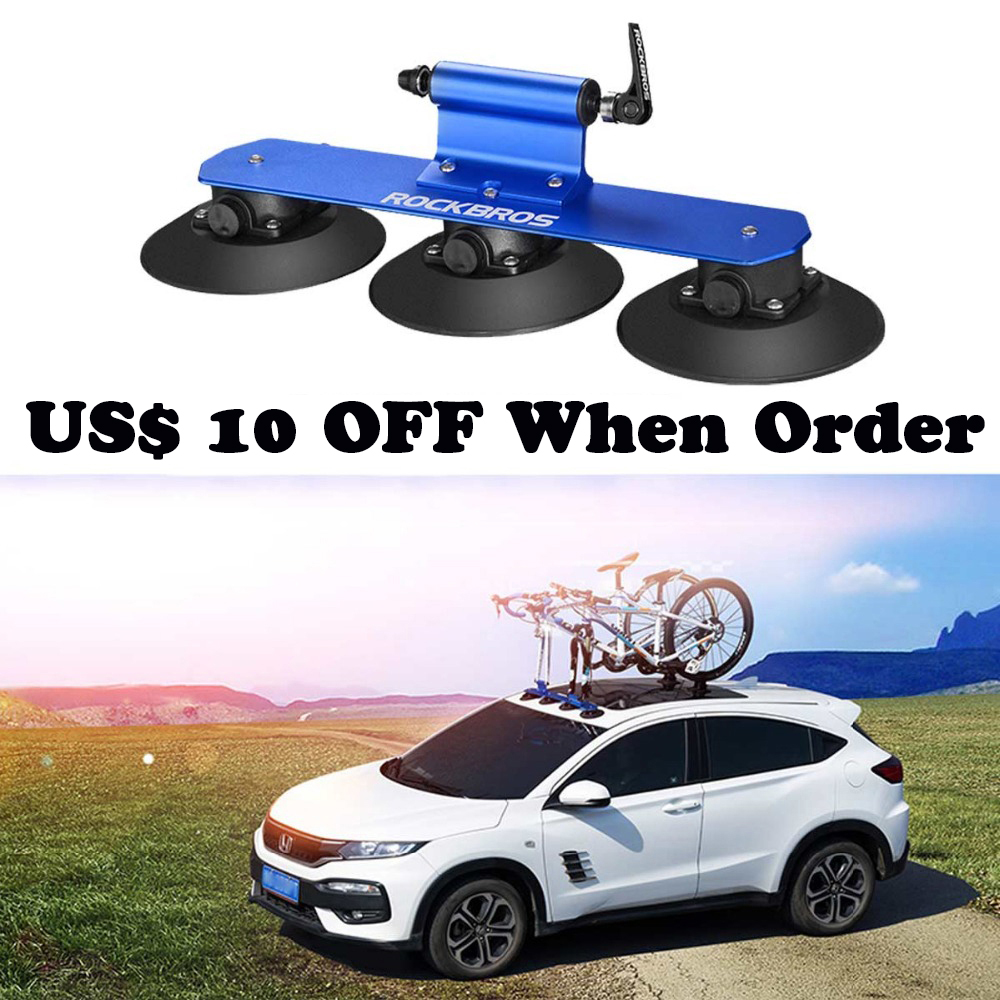 ROCKBROS Car Top Suction Bicycle Rack Quick Installation Bike carrier For Car mount MTB Road Bike