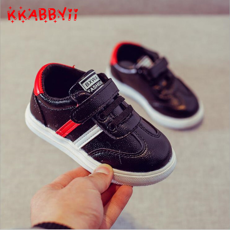 Spring Toddler Kids Casual Shoes Boys Pu Leather Comfy Sport Childrens Shoes Sneakers School Student Shoes for Girls EU 21-30