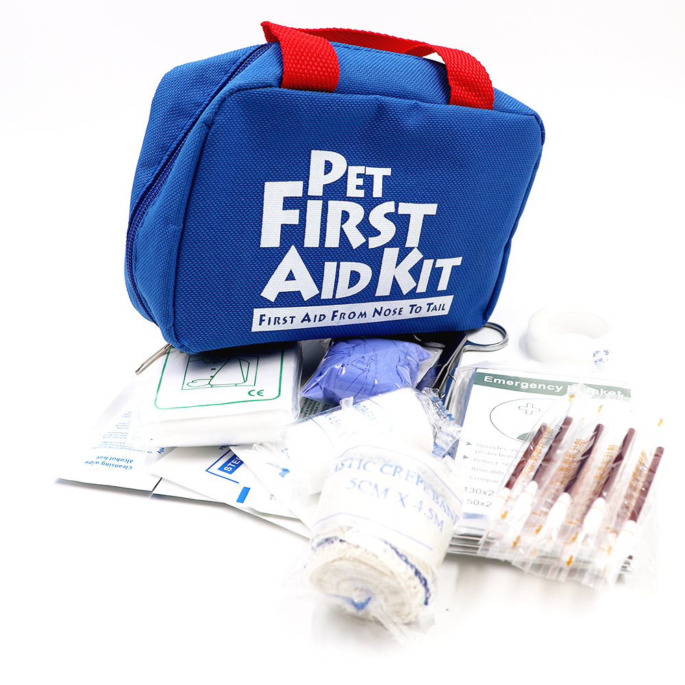 BearHoHo Pets First Aid Kits Handy Bag For Home Outdoor Travel Camping Hiking 25 Pieces Blue