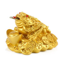 Toad Qian Ji Xiang wealth China Golden Frog Toad family office decoration desktop accessories lucky Home Furnishing Ornament
