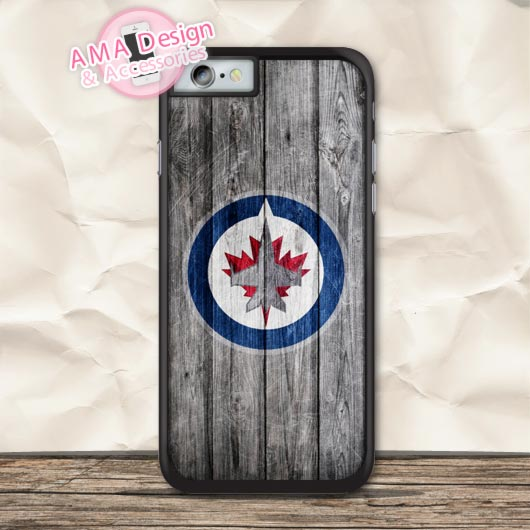 Winnipag Jetz Ice Hockey Sport Case For iPhone X 8 7 6 6s Plus 5 5s SE 5c 4 4s For iPod Touch