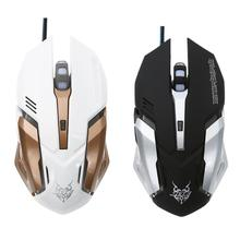 1600DPI Gaming Mouse USB Wired Optical Computer Game Mouse Mice for PC Laptop for CSGO LOL DOTA Game