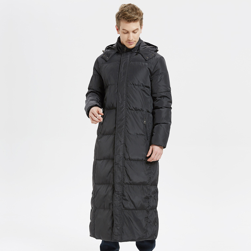 High Quality 2018 New Winter Men's   Down   Jacket 5XL Extra Long Duck   Down     Coat   Thicken Warm Windproof Male Outwear -30C CO098