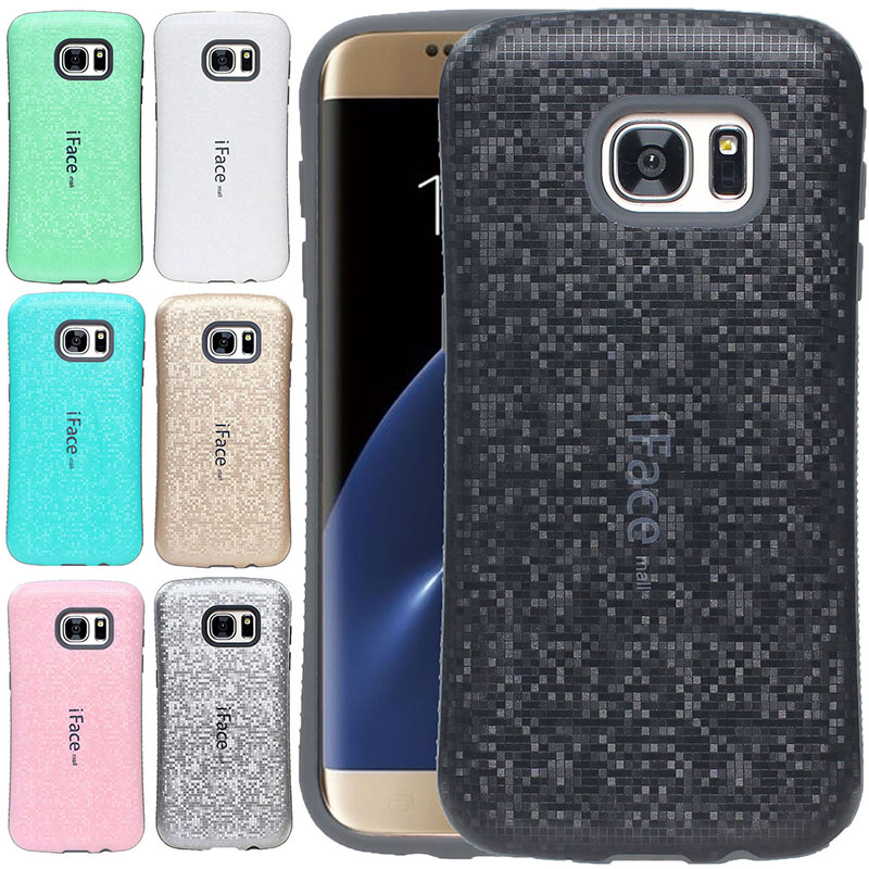 iFace Mall Dropproof Polka Dot Grid Case Cover For Samsung Galaxy S7 edge S8 S8+ S9 S9+ Plus NOTE 8 Silicone Anti-skid Phone Shell