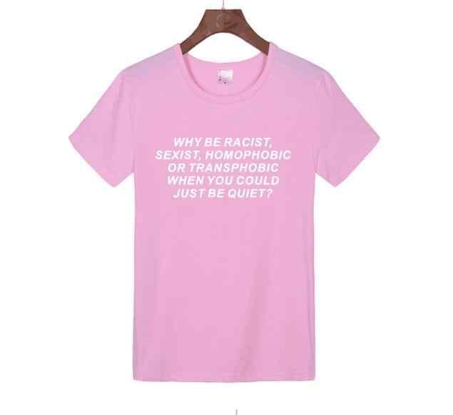 Frank Ocea Tumblr Kaos Wanita Mengapa Rasis Seksi Homophobic Transphobic Ketika Kau Bisa Diam, T-shirt untuk Anak Perempuan kemeja