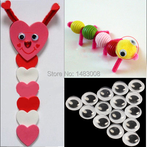 100Pcs 10mm Googly Wiggly Moveable Black Joggle Eyes Hand Craft High Quality