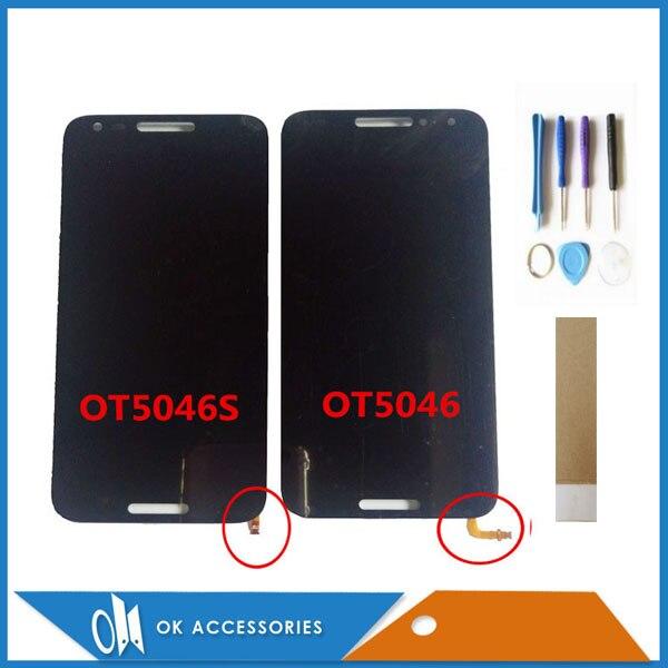 """5,0 """"для Alcatel A3 OT5046 OT5046S 5046D 5046X ЖК-дисплей Дисплей + Сенсорный экран сборки черный Цвет с инструменты лента"""