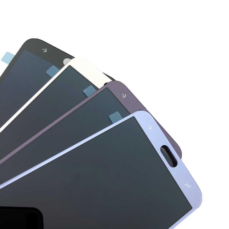 سوبر AMOLED SM-J400F شاشات LCD لسامسونج غالاكسي J4 J400 J400F/DS J400G/DS عرض LCD مجموعة المحولات الرقمية لشاشة تعمل بلمس استبدال
