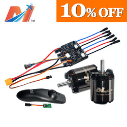 Maytech 220kv brushless motor with hall sensor diy electric skateboard dual speed controller and mini remote ccontrol