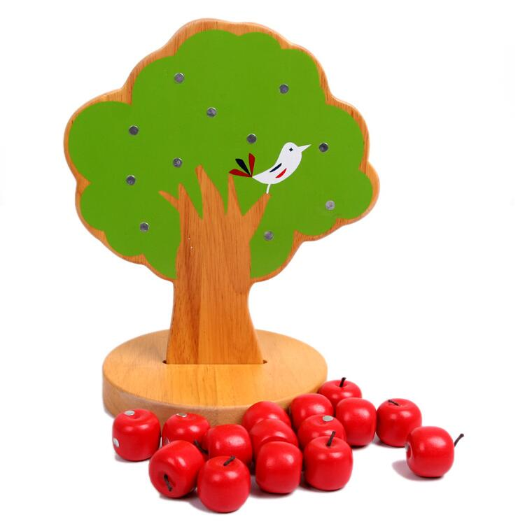 MamimamiHome Baby Wooden Montessori Toys Apple Tree Magnetic Mathematics Early Childhood Teaching Aid Gift For Children Blocks ...