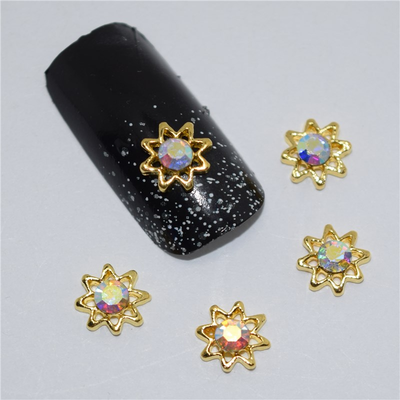 10psc New Color glitter stars 3D Nail Art Decorations,Alloy Nail Charms,Nails Rhinestones  Nail Supplies #377 10psc new pearl colored flow glitter rhinestones 3d nail art decorations alloy nail charms nails rhinestones nail supplies 687