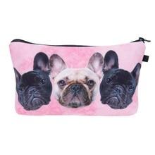 Bulldog Trio Makeup Bags Women