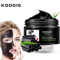 KOOGIS Anti Blackhead Mask Bamboo Charcoal Oil Control Blackhead Remover Cleansing Nose Face Mask 120g Anti