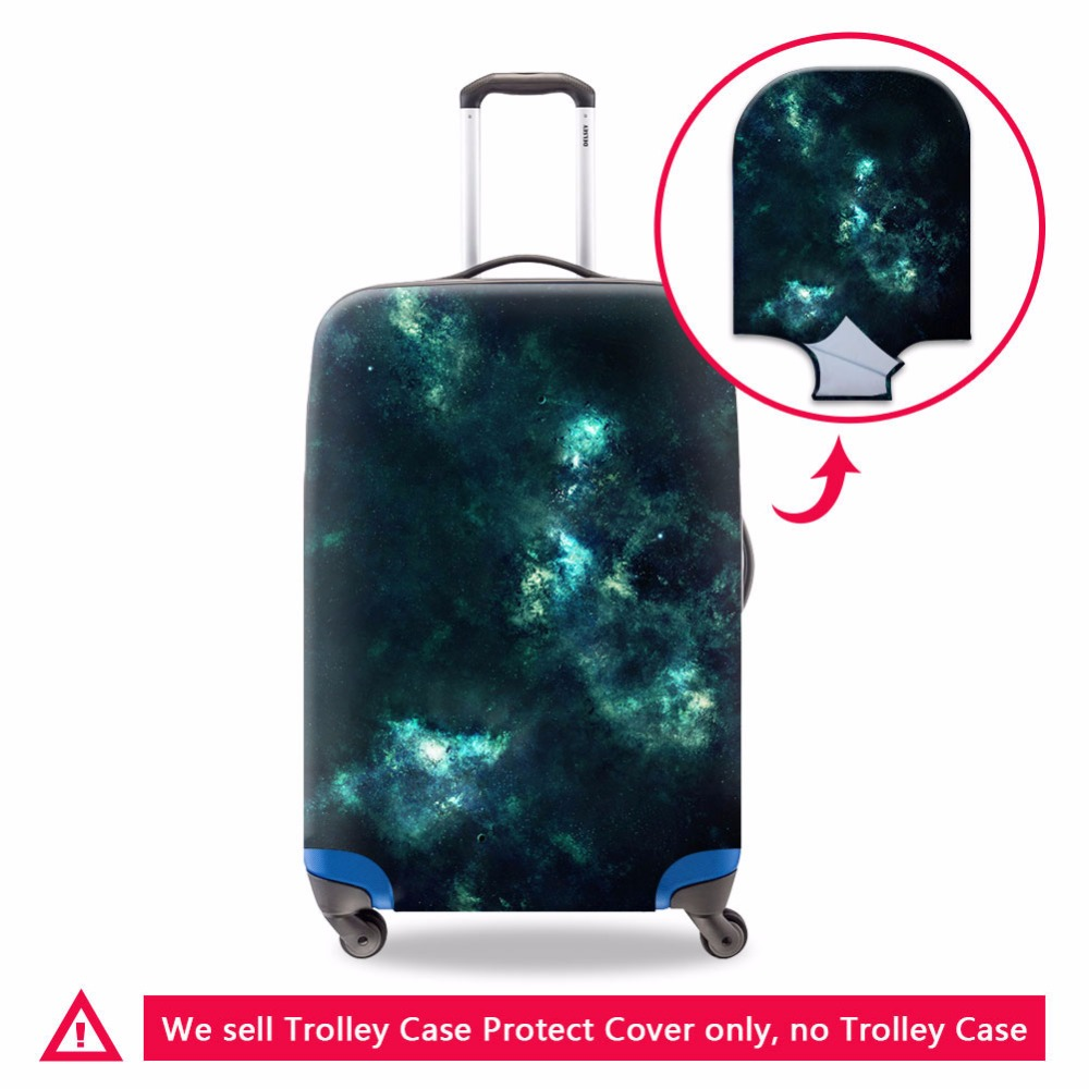 Dispalang Luggage Cover Galaxy Pattern Cool Elastic Suitcase Protector Travel Accessory Women Fahion Zipper Luggage Bag Cover
