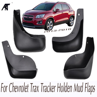 Car Mud Flaps For Chevrolet Trax Tracker Holden 2013+OE Styled Mudflaps Splash Guards Front Rear Mud Flap Mudguards 2014 2016