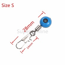 JOSHNESE 50pcs/lot Fishing Line to Hook Swivels Fishing Shank Clip Connector Interlock Snap Sea Space Bean Lure Fishing Swivel