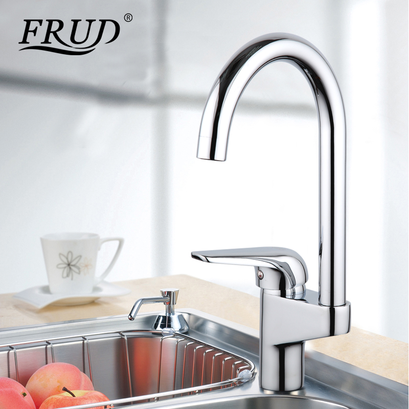 Frud silver sink Drinking Water Faucets 360 Degree Chrome Water tall ...
