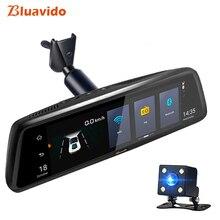 Bluavido 10″ 4G Car rear view mirror DVR Android 5.1 GPS Navigation ADAS Full HD 1080P Video Camera Recorder Dual lens + bracket