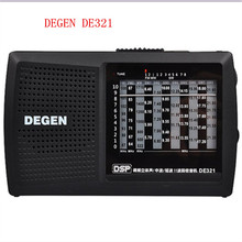 Original degen de321 fm stereo mw sw radio digital de radio DSP Multibanda Radio FM portátil de alta calidad Mejor precio