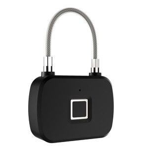 Image 2 - זהב אבטחה חכם מנעול Keyless חכם מנעול טביעת אצבע IP66 עמיד למים נגד גניבת אבטחת מנעול דלת מקרה מזוודות מנעול L13