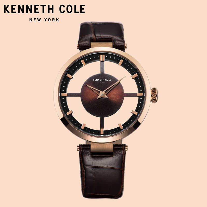 Kenneth Cole Womens Watches See through Leather Buckle