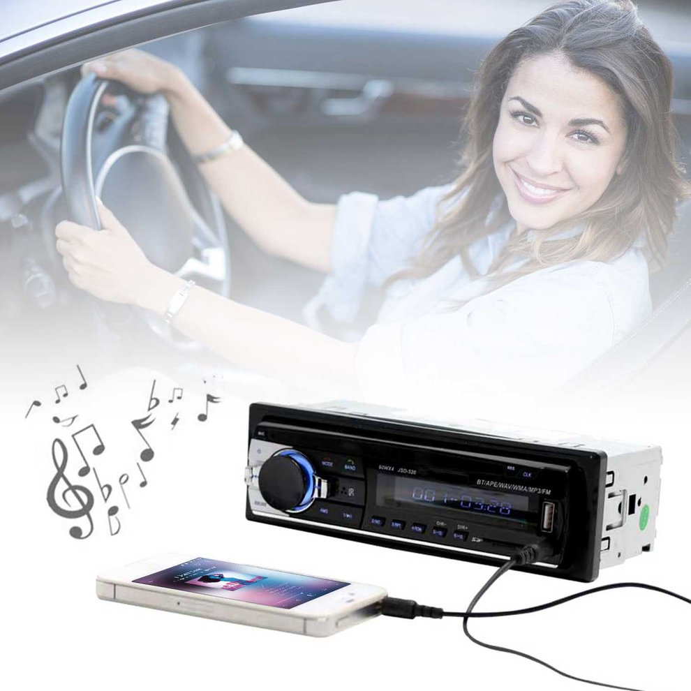 Bluetooth Car MP3 WMA WAV Player Remote Control Multimedia FM Receiver Radio Stereo Audio Music USB With Digital Screen tivdio v 116 fm mw sw dsp shortwave transistor radio receiver multiband mp3 player sleep timer alarm clock f9206a