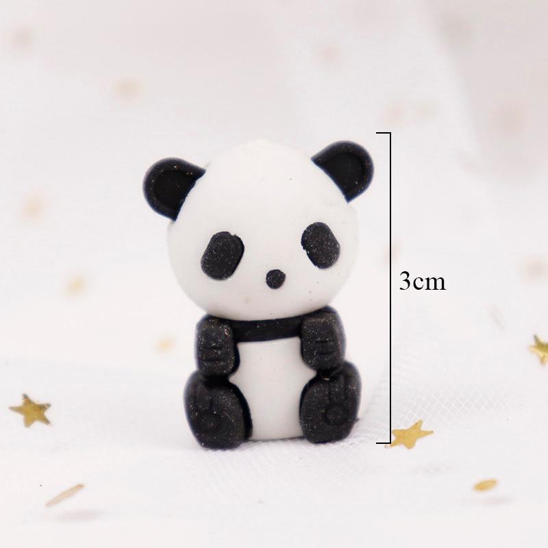 2pcs Cute Kawaii Cartoon Animal Panda Design Drawing Pencil Rubber