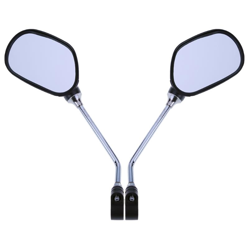 1 Pair Stainless Steel Bicycle Rear View Glass Mirror MTB Road Bike Cycling Rearview Handlebar Left Right Mirrors BMX ciclismo