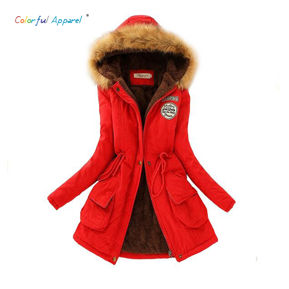Thickening Warm Fur Collar Winter Coat New 2016 Women Clothes Lamb Wool Jacket Hooded Parka Army Green Overcoat S-XXXL