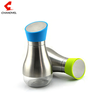 Kitchen Cooking Baking Essential Ware Silver 304 Stainless Steel Olive Oil Bottle Jar Pot Flask Tool