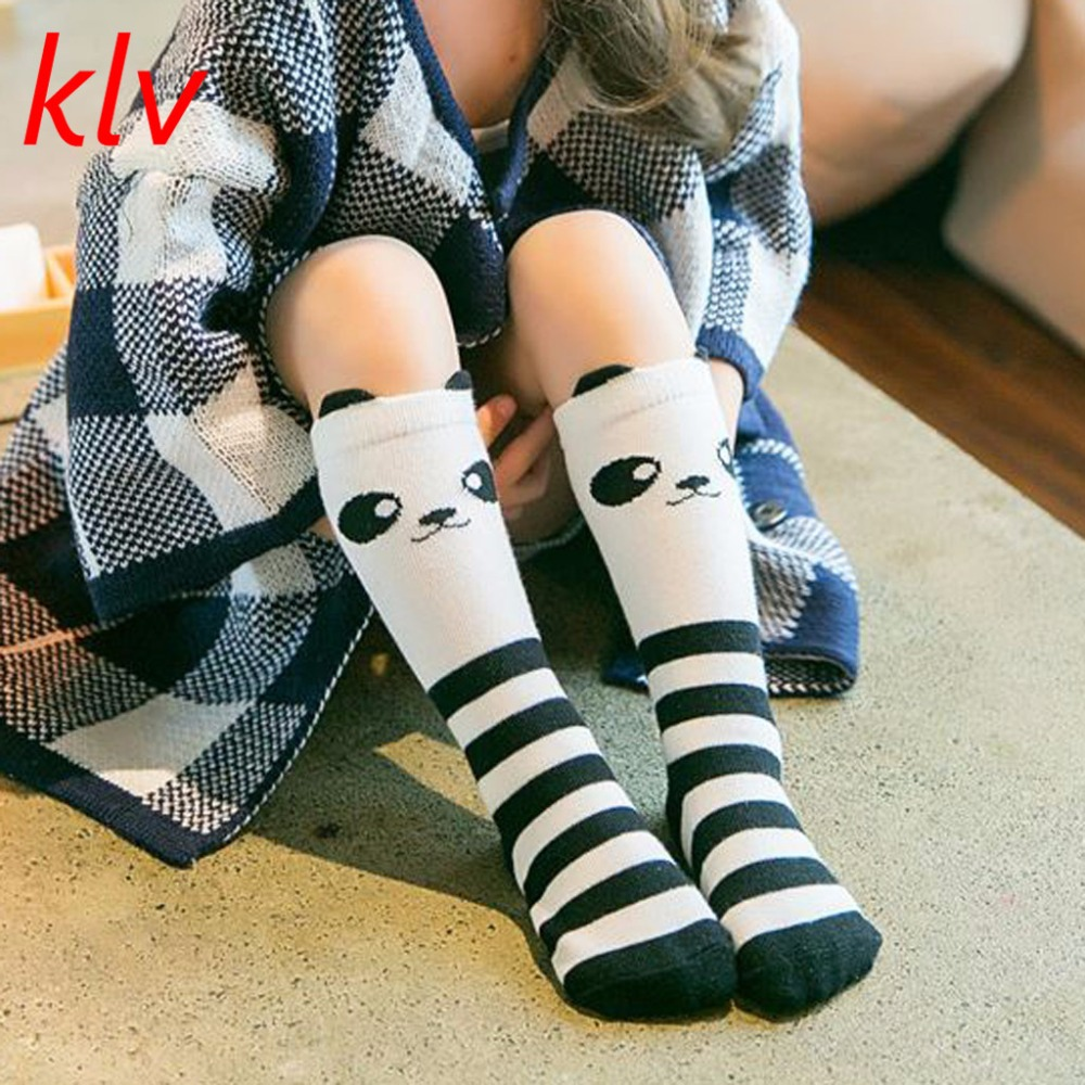 Cute Panda Pattern Socks Winter Autumn Calf Length Tube Crew Socks For Child Toddler 1-6 Years