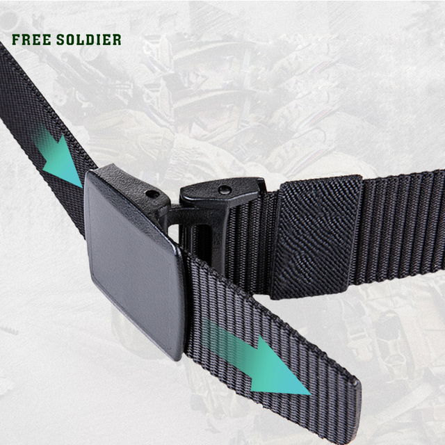 FREE SOLDIER outdoor multi-functional tactical belt breathable wear canvas belt casual special training nylon belt 5