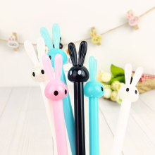 Crystal rabbit gel pen 0.5mm gel pen Kawaii students Writing Neutral pens Caneta Office School Stationery Supplies цена