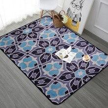 Alfombra rectangular de flores Vintage para sala de estar dormitorio alfombra de piso europeo alfombra suave para mesa de centro juego de niños alfombra