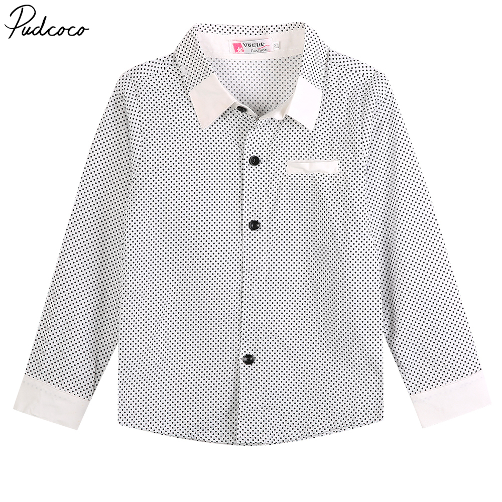 Fashion Cool Kids Boys Abendhemd Lässig Langarm Polka Dot Cotton - Kinderkleidung
