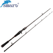 Smart 1 8m 2 1m Casting Fishing Rod 2 Section Power M Vara De Pescar Carbono