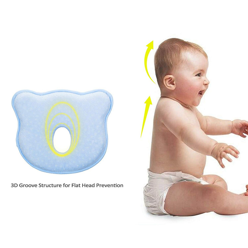 YOOAP Pillow for newborns in memory foam to avoid flat head or plagiocephaly syndrome baby stuff