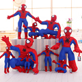 1pcs 30cm Squatting / Stance Spider Man Soft Stuffed Plush Toys The Avengers Spiderman Action Figure Dolls Gift For Children