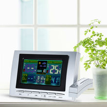 Indoor Outdoor Wireless Weather Station Clock LCD Digital Temperature Humidity Meter Tester Thermometer Hygrometer Color Display