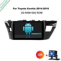 Funrover 10,1 дюймов Android 8,0 dvd gps радио мультимедийный плеер для Toyota Corolla 2014 2015 RDS 2 г Оперативная память + 32 г Встроенная память Quad core usb
