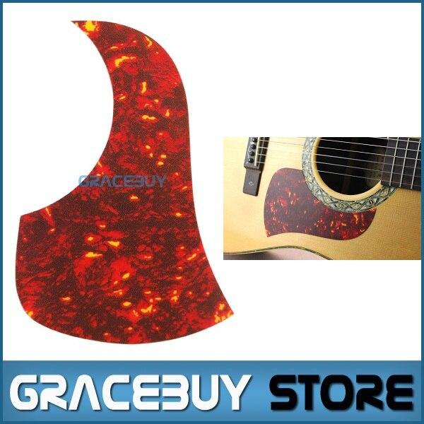 40 41 42 Acoustic Guitar Pickguard Pick Guard Sticker R60mm Plastic Red Flame Color - Alice A025E