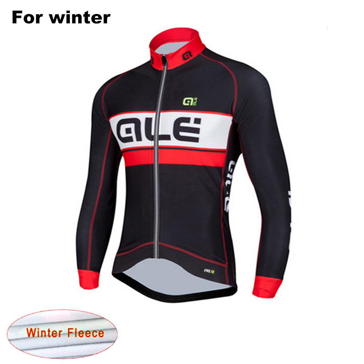 Ale 2017 MTB Winter Thermal Fleece Team Cycling Jersey Warm Men`s Bike Clothing Ropa Ciclismo Maillot