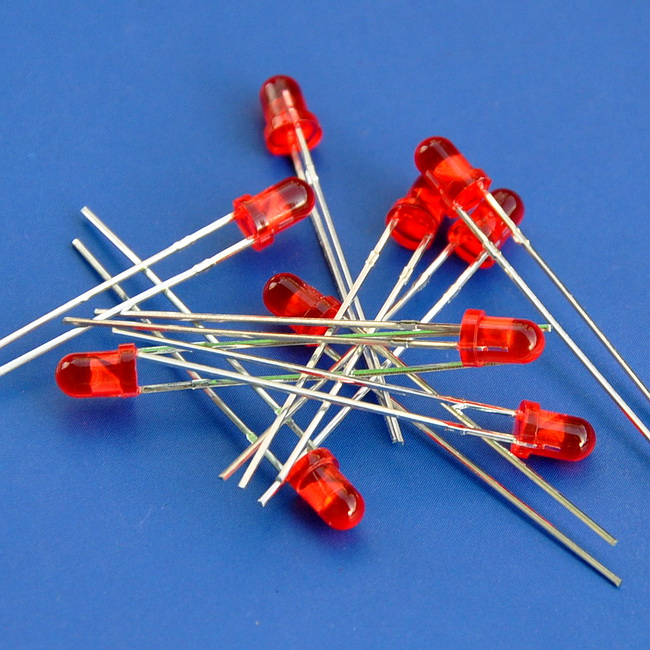 ( 50 Pcs/lot ) Diameter 3mm Normal Brightness Round Red LED.