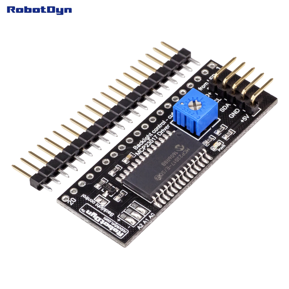 Módulo adaptador gráfico LCD 12864 a I2C. Driver MCP23017 expansor. 5V