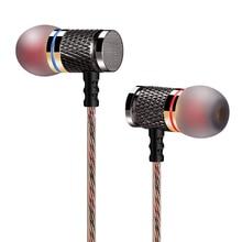 Профессиональные наушники вкладыши QKZ DM6, металлические музыкальные наушники с тяжелыми басами и качественным звуком, наушники элитного китайского бренда